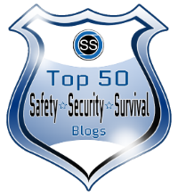 Top 50 safety security survival blogs badge